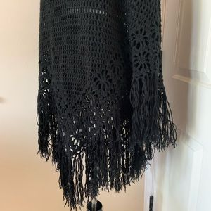 Rue21 Sweaters - Rue 21 Black Poncho One Size Fits Most